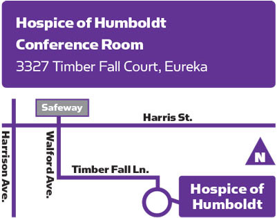 Map to Hospice of Humboldt