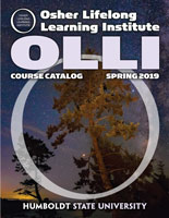Cover of current OLLI course catalog