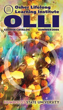 Cover of Summer 2021 OLLI catalog