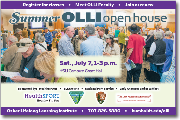 Sample OLLI Open House ad with sponsorship examples