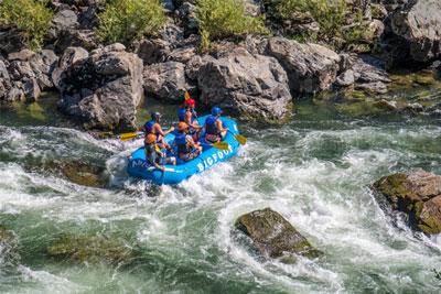 Rafting on Klamath River