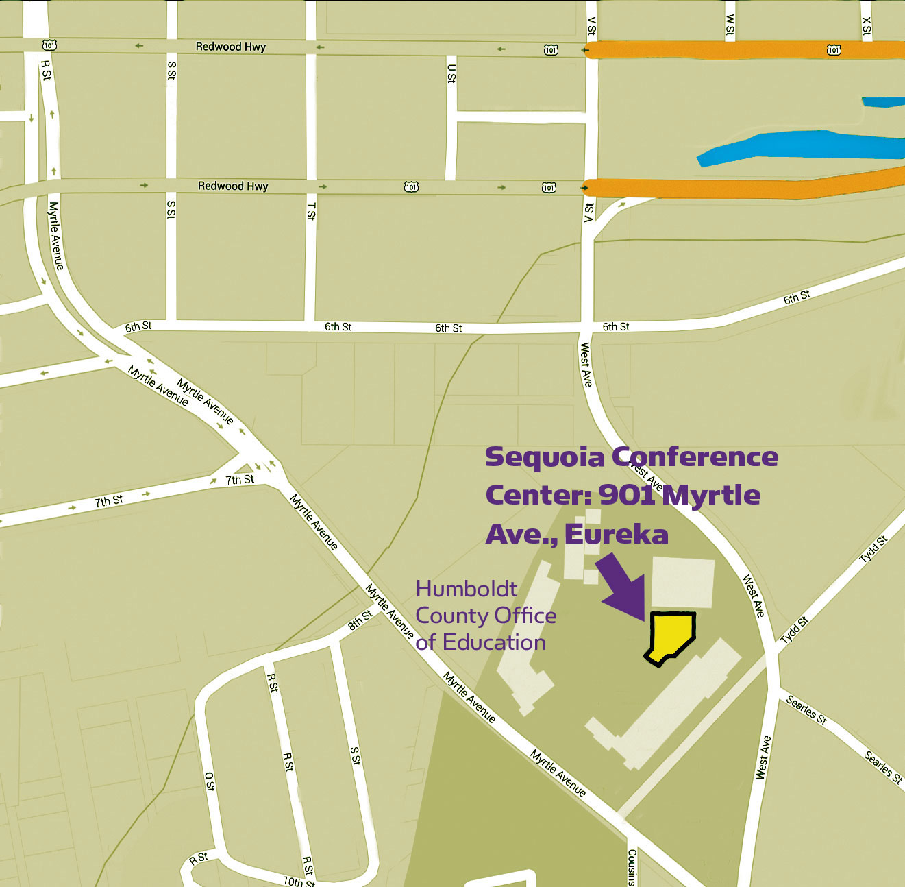Map to Sequoia Conference Center