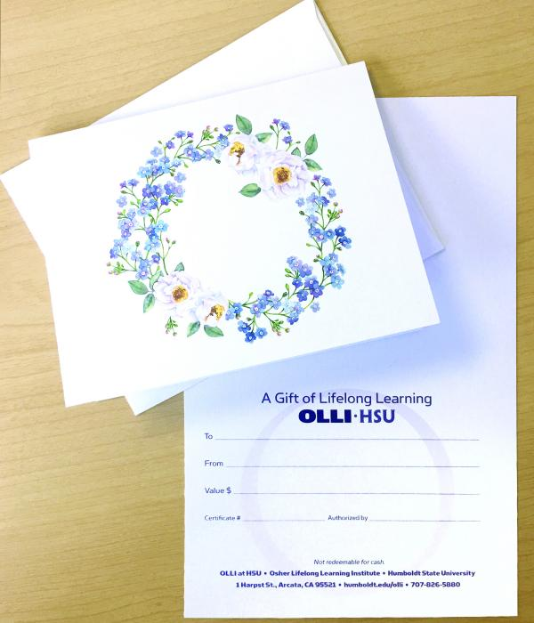 OLLI Gift certificate