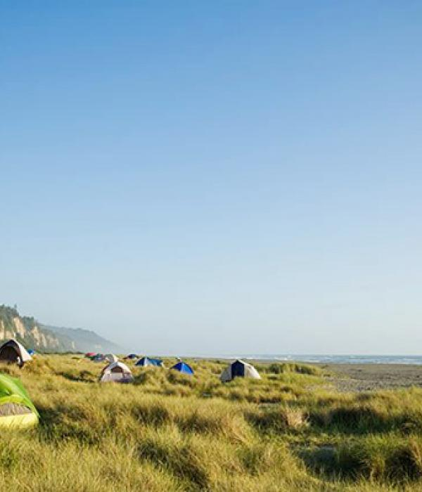 Tents on the coast