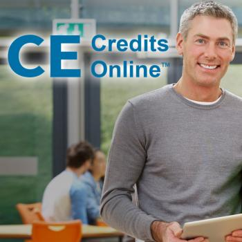 CE Credits Online [Man and woman in classroom]