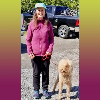 Janette Heartwood and her dog