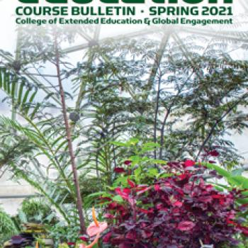 Cover of spring 2021 Extended Education bulletin