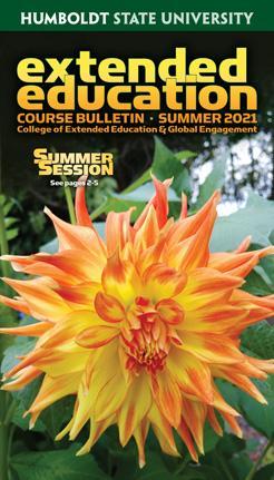 Cover of summer 2021 Extended Education bulletin