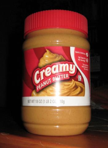 image of a jar of peanut butter