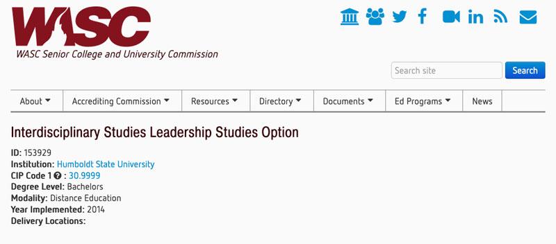 WASC website screenshot